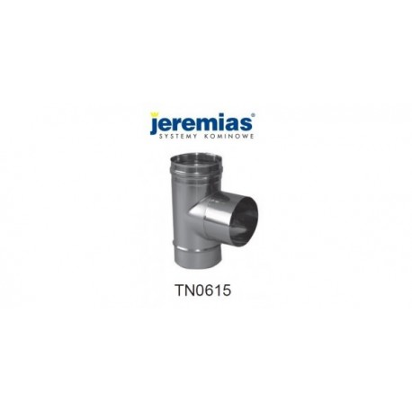 JEREMIAS trójnik spalinowy 87° fi 120 stal nierdzewna