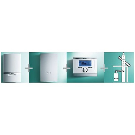 VAILLANT - PAKIET SYSTEMOWY NR 6 - 1 - ecoTEC plus VC 146/5-5 + VIH Q 75B + multiMATIC 700/5 + podł. do szachtu