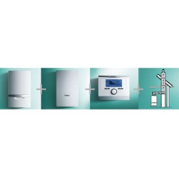 VAILLANT - PAKIET SYSTEMOWY NR 6 - 2 - ecoTEC plus VC 206/5-5 + VIH Q 75B + multiMATIC 700/5 + podł. do szachtu